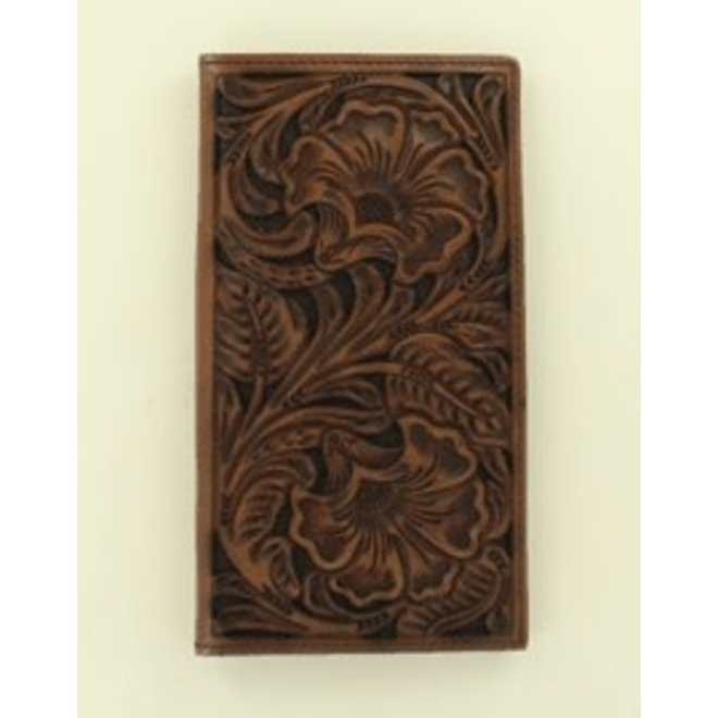 Ariat Black Accent Tooled Rodeo Wallet