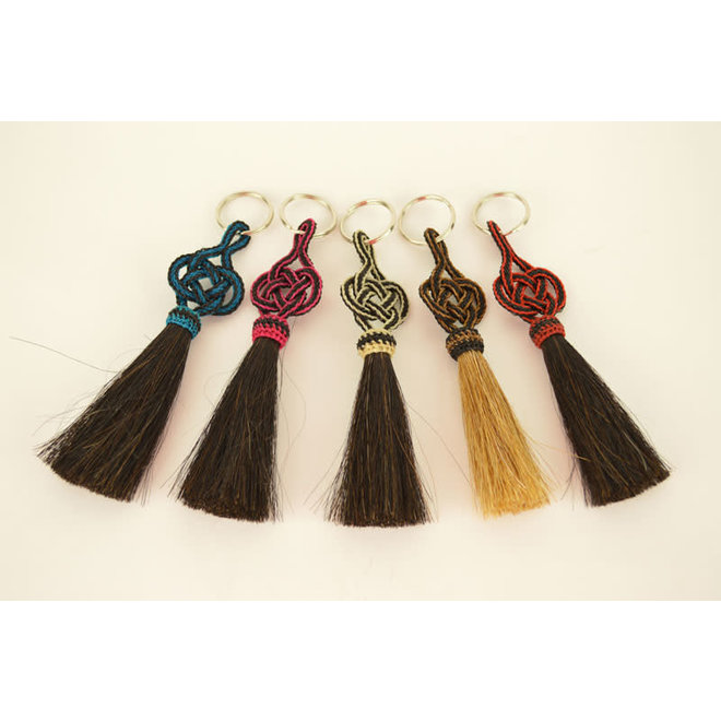 Horsehair Key Chain with Alamar Knot