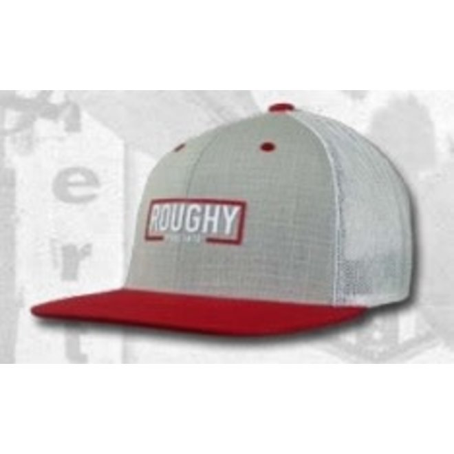 "Roughy ""Red"" Grey and White Snapback Cap"