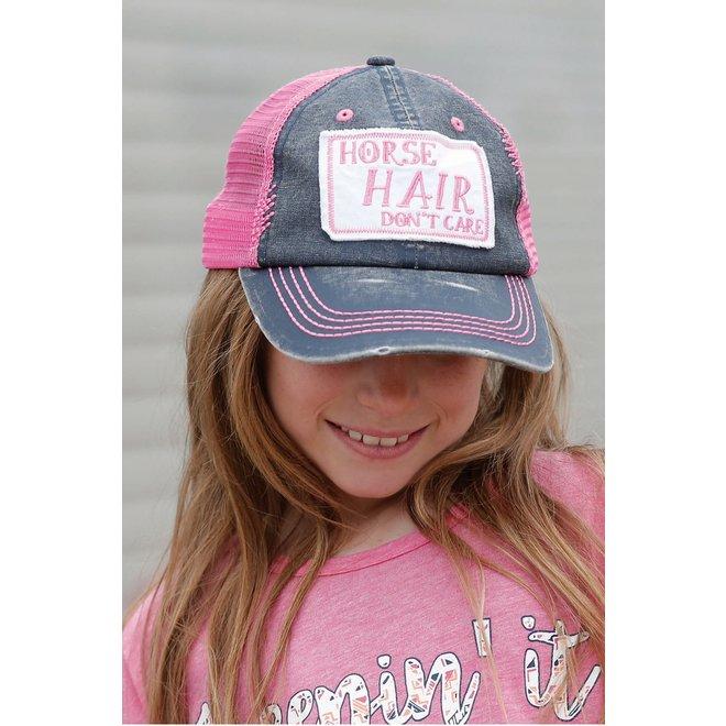 Girls Pink/Gray Cap