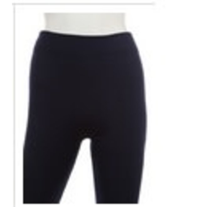 Ladies OSFA Inner Fleece Basic Black Leggings