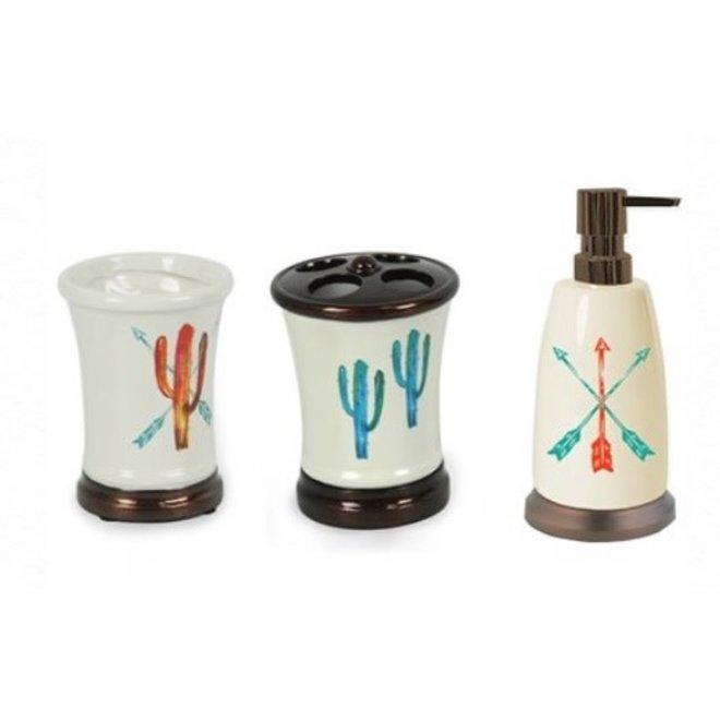 3 Piece Cactus Bath Set