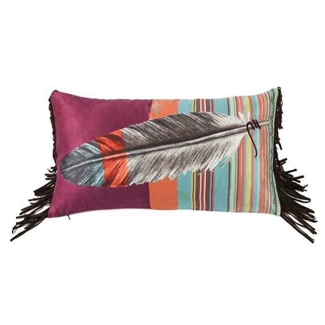 Feather Design Pillow