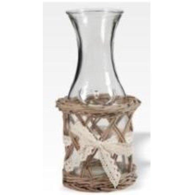 Bottle in Willow Basket