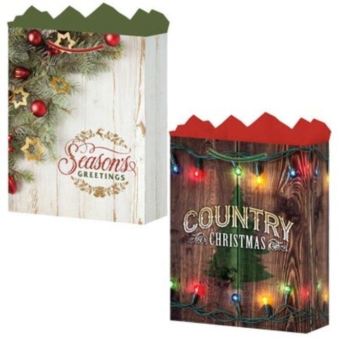 Medium Backwood Christmas Gift Bag
