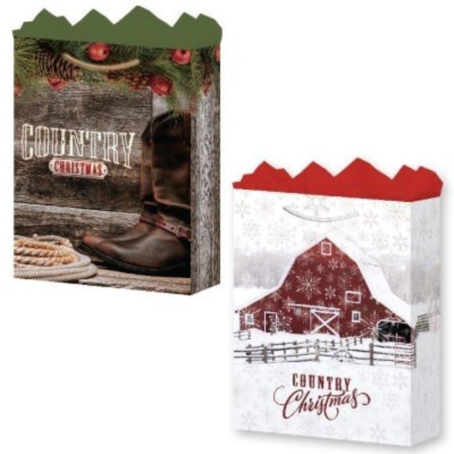 Large Country Christmas Gift Bag