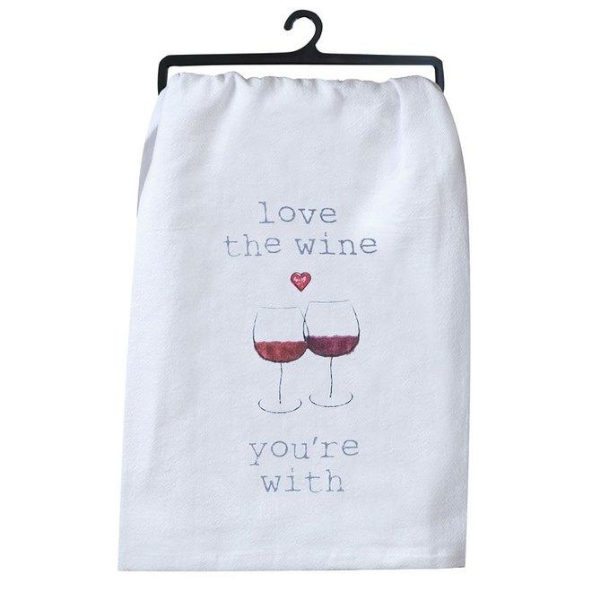 Love Wine Flour Sack Towel