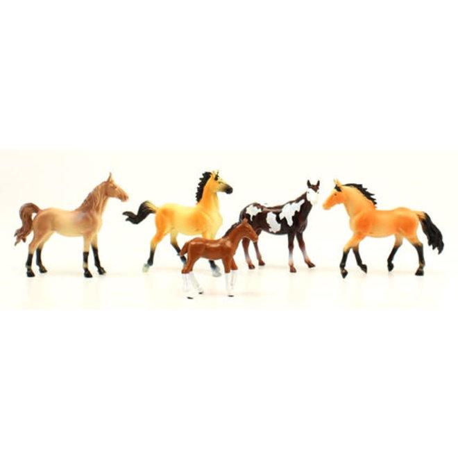 Bigtime Barnyard Horses Set of 5