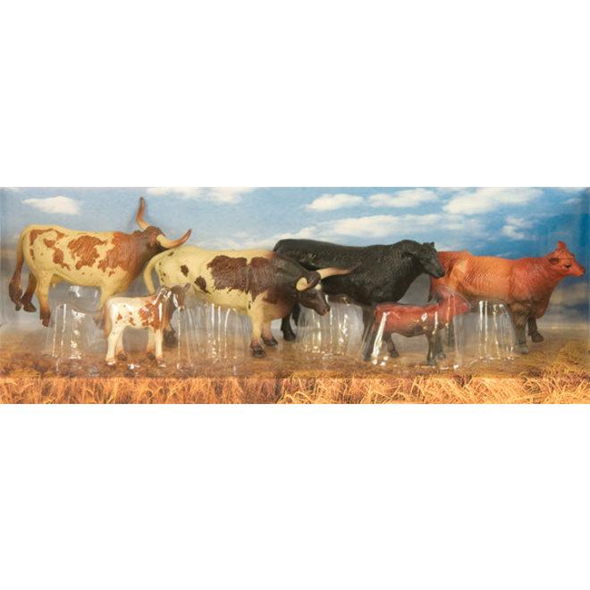 Bigtime Barnyard Set of 6 Longhorns