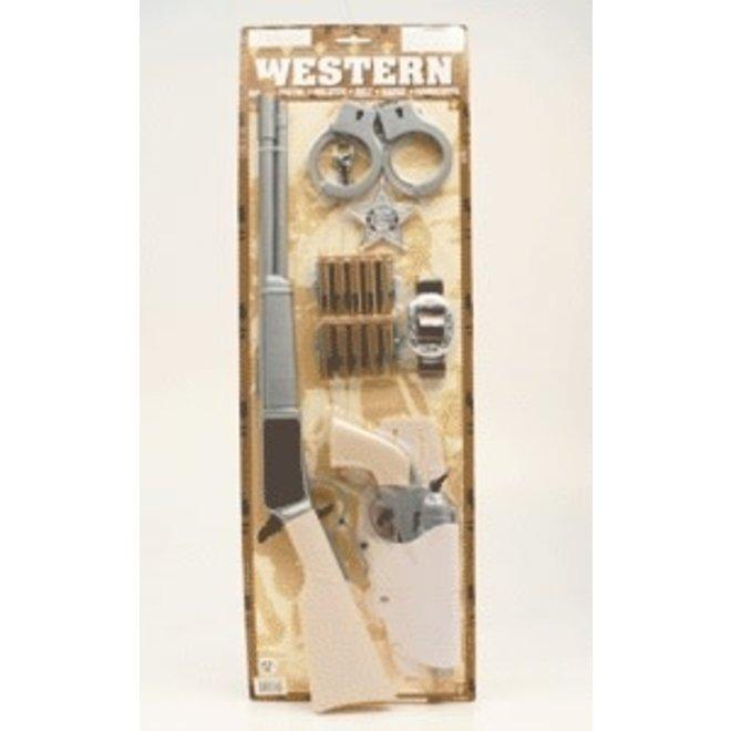 Pink Wild West Rifle and Gun Set