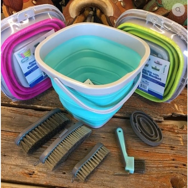6 Piece Grooming Kit with Collapsible Buckle