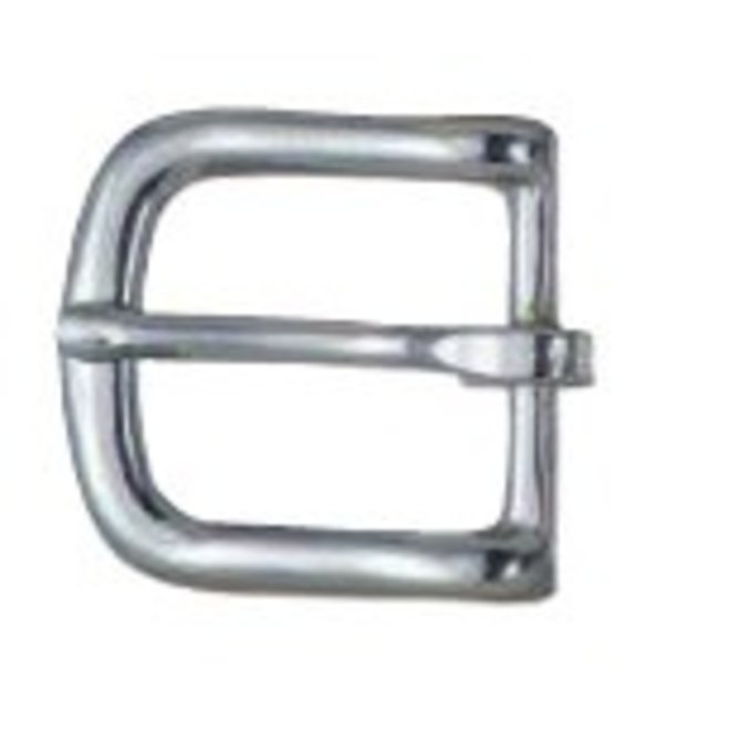 "Nickel Plated #12 Harness Buckle 1"" x 1 1/2"