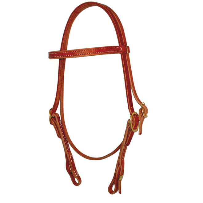 Straight Brow Stitched Headstall