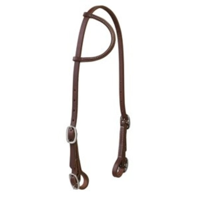 """Working Cowboy 5/8"""" Sliding Ear Headstall with Stainless steel Buckle Bit Ends"""