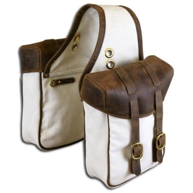 TrailMax Canvas & Leather Saddle Bags