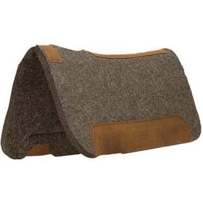 Natural Wool Felt Pony Saddle Pad - Grey