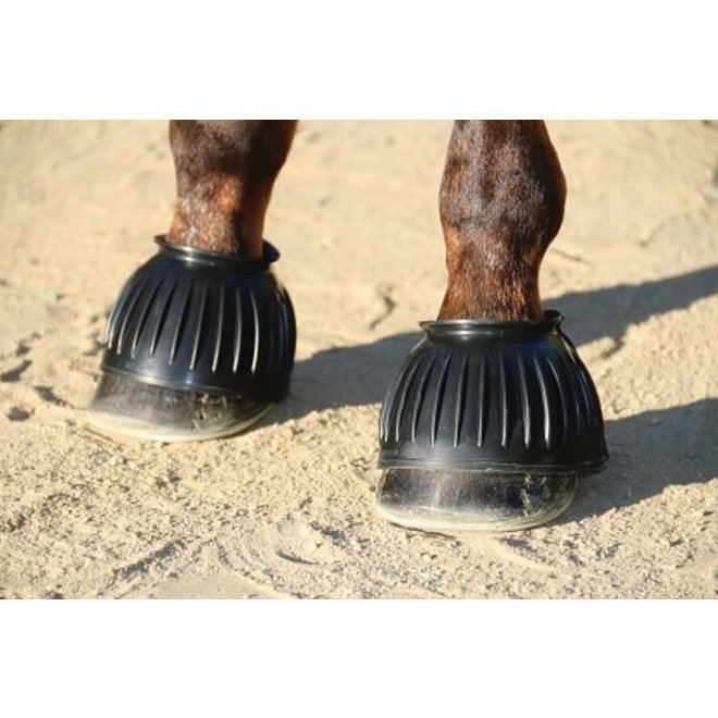 Black Rubber Bell Boots