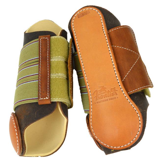 Leather Velcro Splint Boots