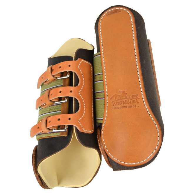 Leather Buckle Splint Boots