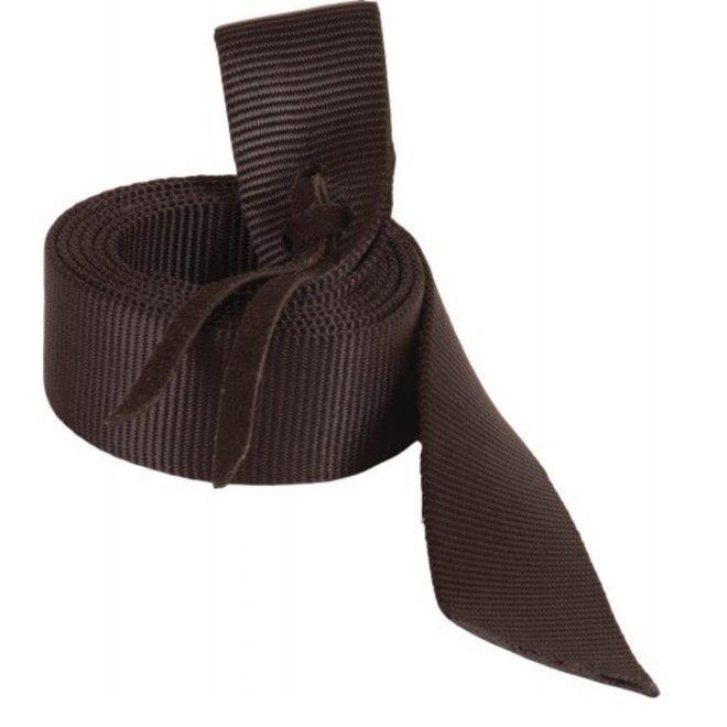 6' Black Nylon Latigo Tie Strap