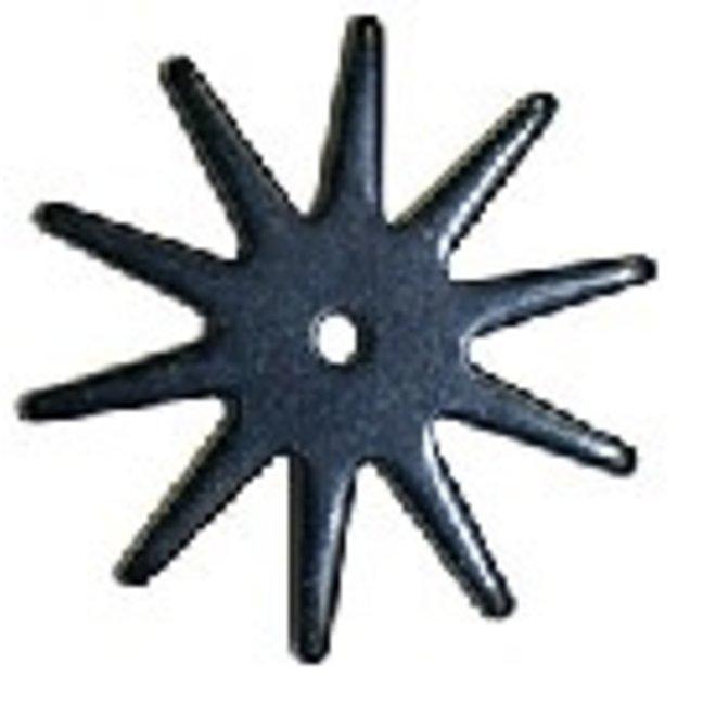 "Rowel - Black Satin 2 3/16""  - 10 pt Spike"