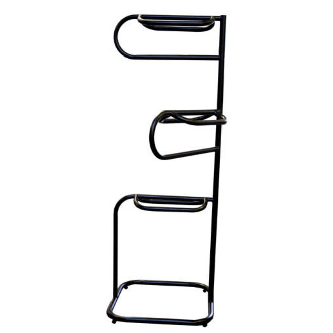 Lightwt 3-Tier Saddle Rack Blk