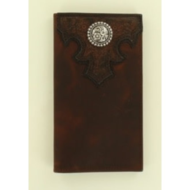 Mens Rustic Embossed Trifold