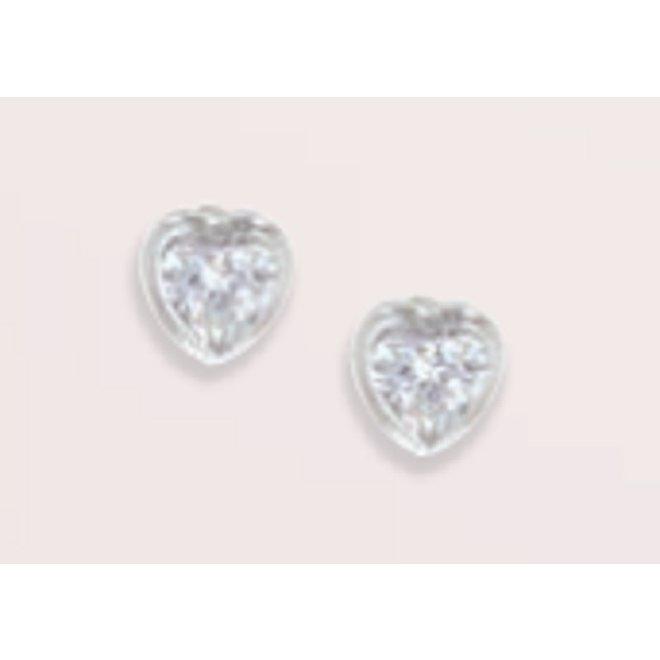 Tiny Heart Crystal Earrings