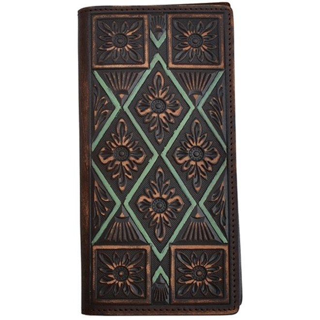 Mens Vintage Embossed Rodeo Wallet