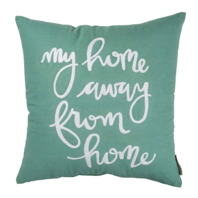 Cotton Lettered Pillow