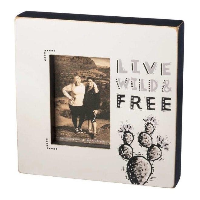 Box Frame - Live Wild & Free