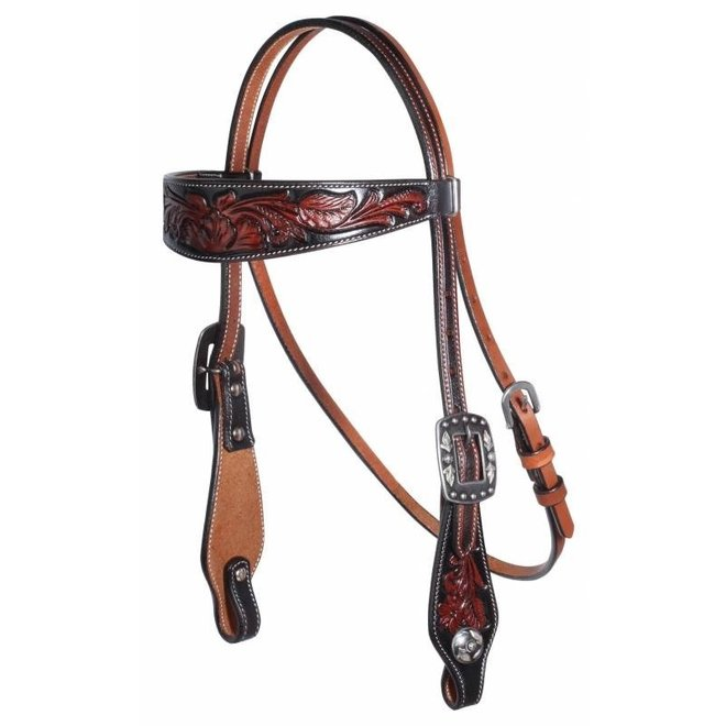 Black Floral Headstall