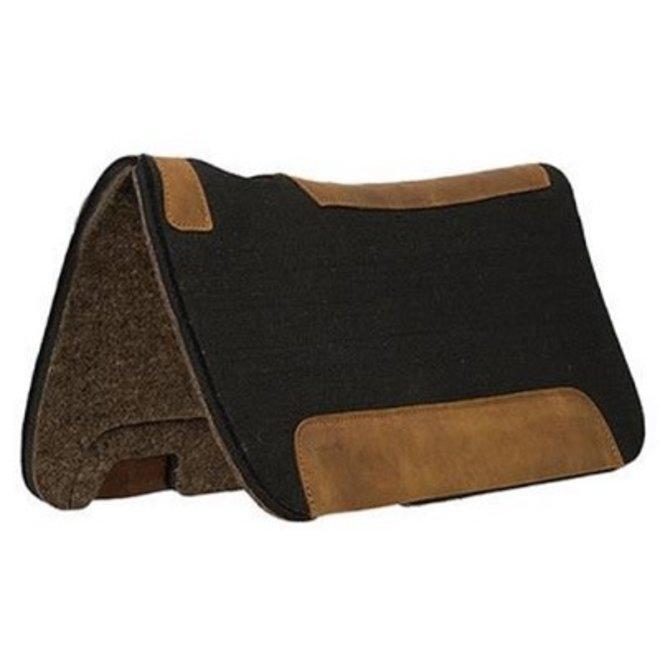 Natural Wool Felt Pony Saddle Pad - Black