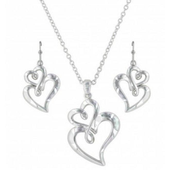 Heart Jewellery Set