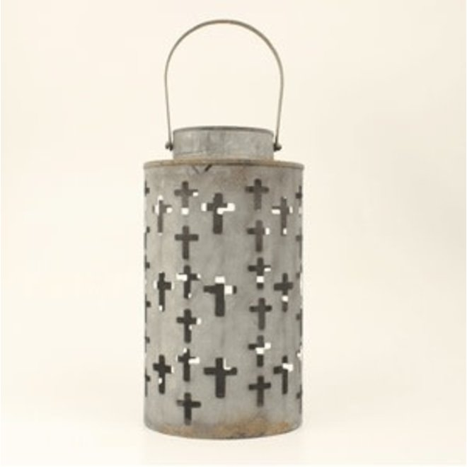 Tin Cross Candle Holder