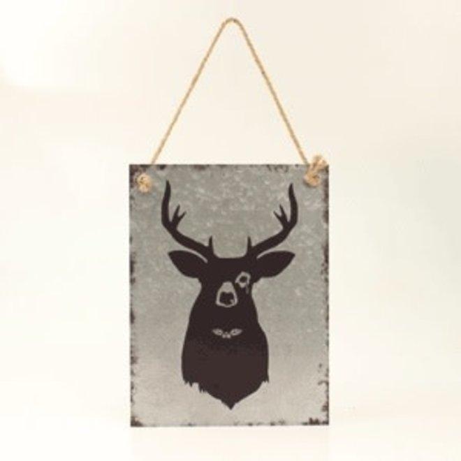 Metal Black Deer Wall Hanging