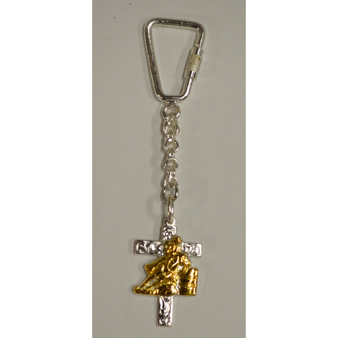 Cross Key Chain with Barrel Racer