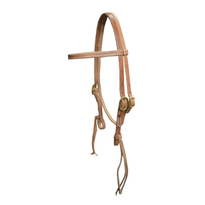 Browband Headstall with Rattlesnake Tie Ends