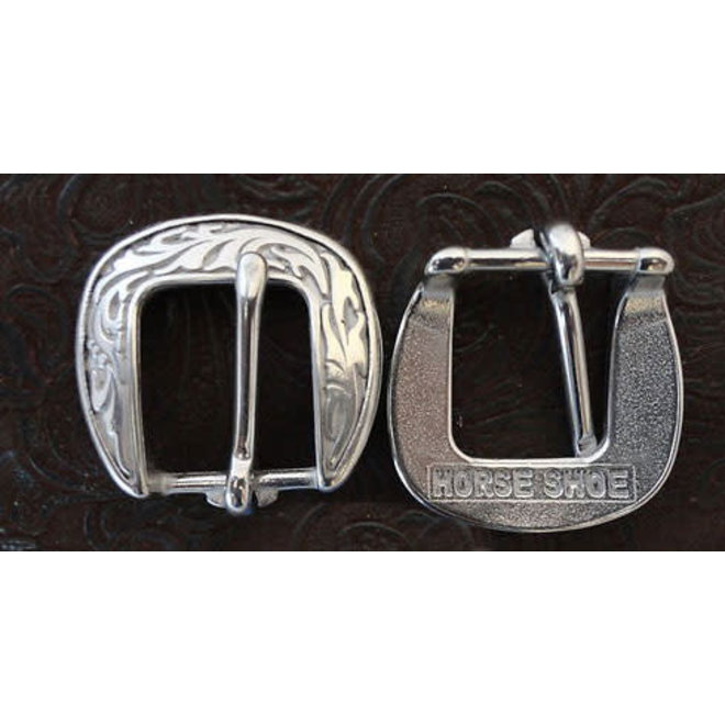 JW Floral Buckle Oval - 3/4