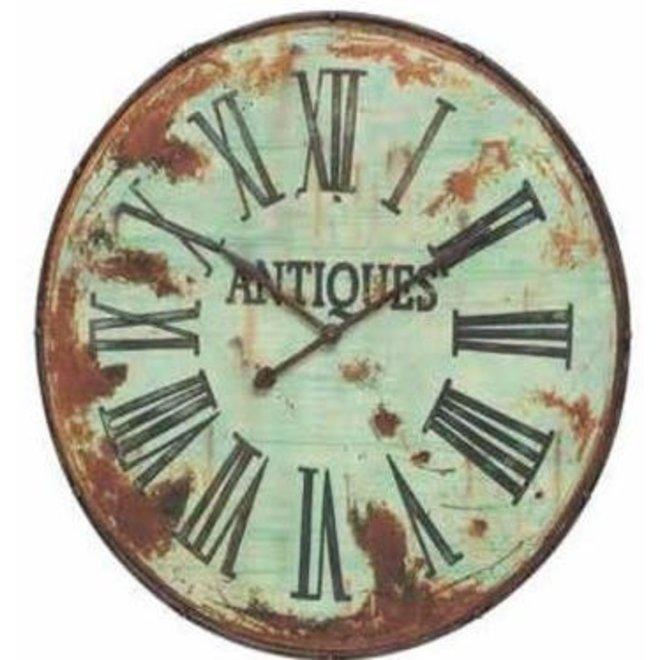 """41"""" Distressed Metal Wall Clock"""