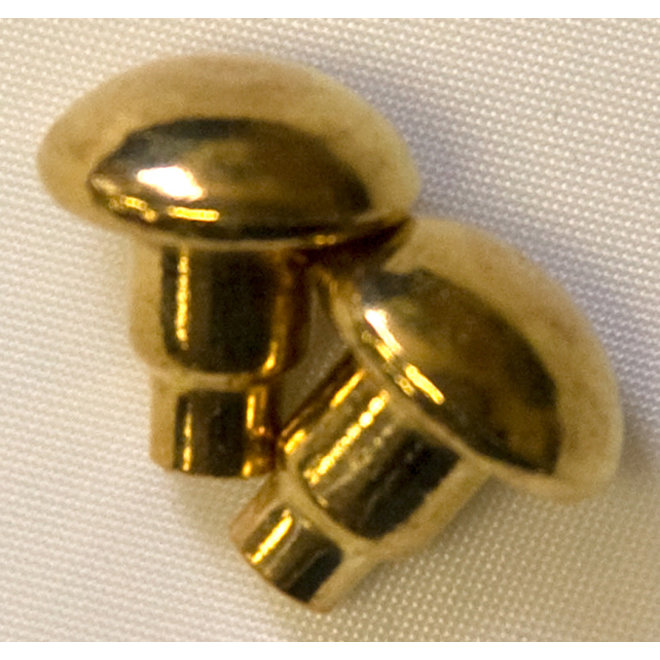 Solid Brass Spur Buttons