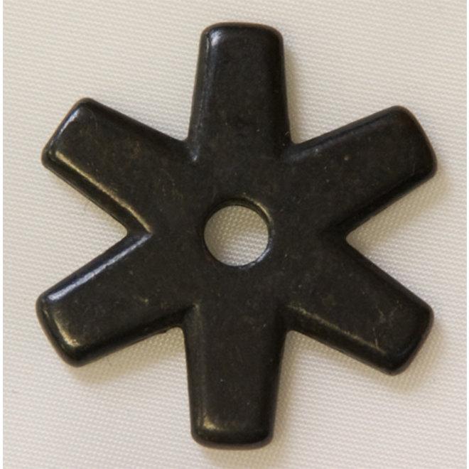 Rowel - Black 6pt Star