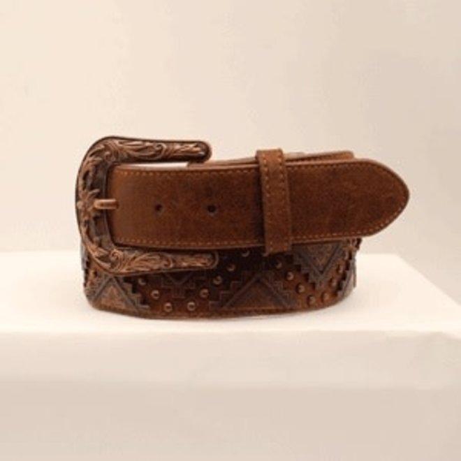 Ladies Distressed Brown Belt