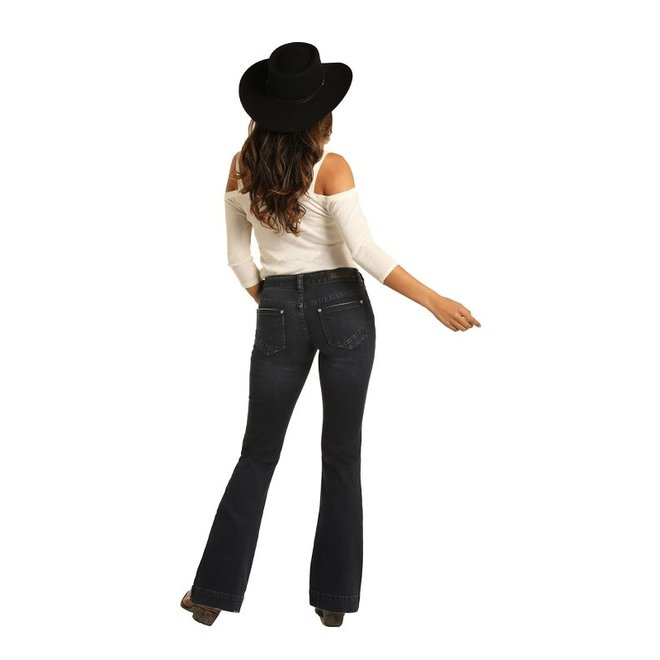 Ladies Dark Vintage Trouser