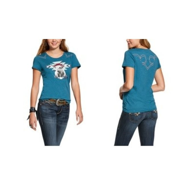 Ladies Teal Highlander Tee