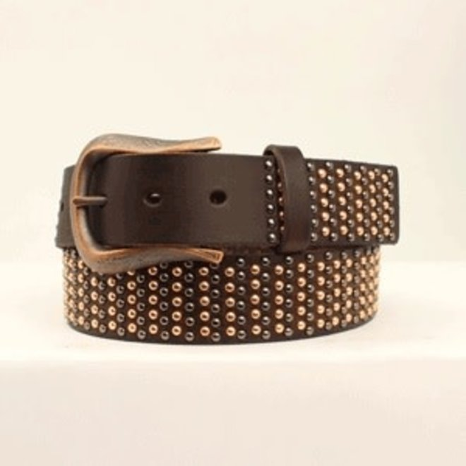 Ladies Nailhead Leather Belt