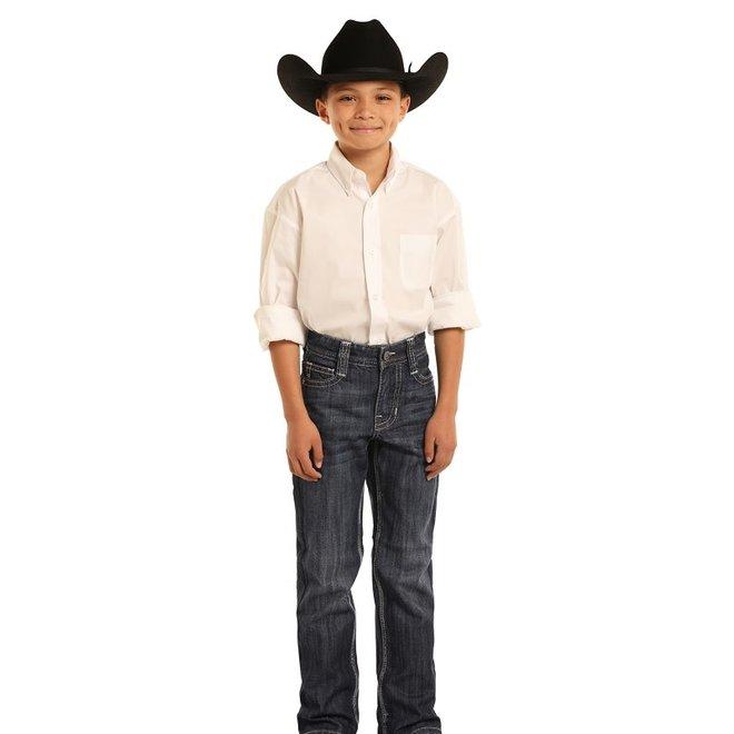 Boys Dark Vintage Bootcut Jean
