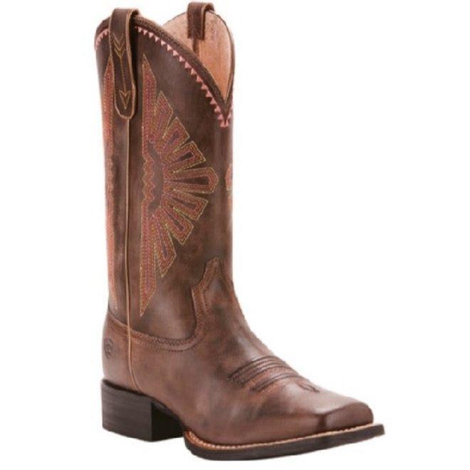 Ladies Brown Round Up Rio Boot