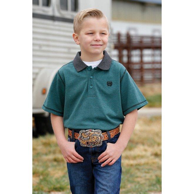 Boys Green Polo Shirt