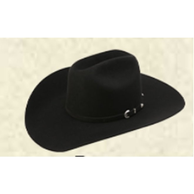 AHC Ranch Cowboy Black Felt 7X Hat
